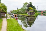 """BCN 24h Marathon Challenge 2015: """"Felonious Mongoose"""" at Ryders Green Junction. A footbridge spanned the canal, the brick structures on both sides of the canal remain. Birmingham Canal Navigations,    on 23 May 2015 at 13:19, image #112"""