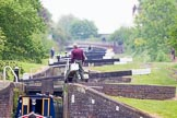 BCN 24h Marathon Challenge 2015: Ryders Green Locks on the Walsall Canal, the distances appear compressed because of the long lens used. Birmingham Canal Navigations,    on 23 May 2015 at 14:23, image #117
