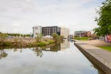 BCN 24h Marathon Challenge 2015: Approaching Walsall Town Wharf. On the right, now the site of a modern housing development, used to be aluminium smelter works, on the left was a row of short basins. Birmingham Canal Navigations,    on 23 May 2015 at 17:32, image #145