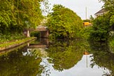 BCN 24h Marathon Challenge 2015: Linthouse Lane Bridge on the Wyrley & Essington Canal. Just behind the bridge, a short basin on th left served Castle Bridge Colliery, a basin on the right served Ashmore Park Collieries. Birmingham Canal Navigations,    on 24 May 2015 at 07:13, image #150