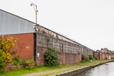 BCN 24h Marathon Challenge 2015: High security despite the somewhat sad state of this industrial building near Cable Street on the BCN Main Line. Birmingham Canal Navigations,    on 24 May 2015 at 08:26, image #176