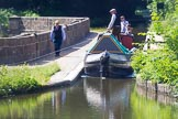 : Horse drawn historic narrowboat Maria on Marple Aqueduct.     on 03 July 2015 at 15:13, image #28