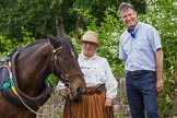 : CRT's Richard Parry and Horseboat Association's Sue Day with boat horse Bilbo.     on 03 July 2015 at 17:20, image #78