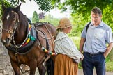 : CRT's Richard Parry and Horseboat Association's Sue Day with boat horse Bilbo.     on 03 July 2015 at 17:35, image #80