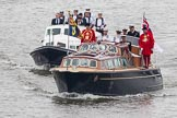 Thames Diamond Jubilee Pageant: VIPS-Britannia Royal Barge (V59) and Britannia Escort Boat No.2 (V60).. River Thames seen from Battersea Bridge, London,  United Kingdom, on 03 June 2012 at 14:23, image #27