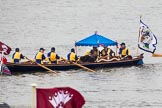 Thames Diamond Jubilee Pageant: WATERMAN'S CUTTERS-Princess Nausicaa (M14).. River Thames seen from Battersea Bridge, London,  United Kingdom, on 03 June 2012 at 14:40, image #82