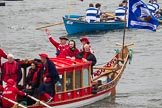 Thames Diamond Jubilee Pageant: SHALLOPS-Jubilant (M5).. River Thames seen from Battersea Bridge, London,  United Kingdom, on 03 June 2012 at 14:41, image #86