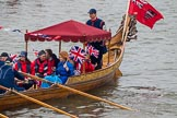 Thames Diamond Jubilee Pageant: SHALLOPS-Lady Mayoress (M4).. River Thames seen from Battersea Bridge, London,  United Kingdom, on 03 June 2012 at 14:41, image #87