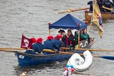 Thames Diamond Jubilee Pageant: WATERMAN'S CUTTERS-Belle Founder (M28).. River Thames seen from Battersea Bridge, London,  United Kingdom, on 03 June 2012 at 14:41, image #90
