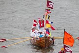 Thames Diamond Jubilee Pageant: PILOT GIGS, GIGS & CELTIC LONGBOATS- Whiteforeland (Renfrewshire) (M81).. River Thames seen from Battersea Bridge, London,  United Kingdom, on 03 June 2012 at 14:42, image #100
