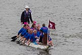 Thames Diamond Jubilee Pageant: DRAGON BOATS-Griffin (179).. River Thames seen from Battersea Bridge, London,  United Kingdom, on 03 June 2012 at 14:48, image #129