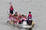 Thames Diamond Jubilee Pageant: DRAGON BOATS-Silverwing (M181).. River Thames seen from Battersea Bridge, London,  United Kingdom, on 03 June 2012 at 14:48, image #130