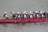 Thames Diamond Jubilee Pageant: DRAGON BOATS-Artemis Diana (M187).. River Thames seen from Battersea Bridge, London,  United Kingdom, on 03 June 2012 at 14:49, image #138