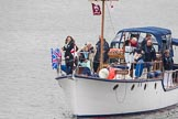Thames Diamond Jubilee Pageant: DUNKIRK LITTLE SHIPS-Aberdonia (H36).. River Thames seen from Battersea Bridge, London,  United Kingdom, on 03 June 2012 at 15:16, image #309