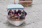 Thames Diamond Jubilee Pageant: MOTOR CRUISES/YACHTS-Amaryllis (H92).. River Thames seen from Battersea Bridge, London,  United Kingdom, on 03 June 2012 at 15:27, image #365