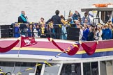 Thames Diamond Jubilee Pageant: JUBILANT COMMONWEALTH CHOIR- Silver Bonito (H104).. River Thames seen from Battersea Bridge, London,  United Kingdom, on 03 June 2012 at 15:30, image #371