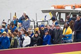 Thames Diamond Jubilee Pageant: JUBILANT COMMONWEALTH CHOIR- Silver Bonito (H104).. River Thames seen from Battersea Bridge, London,  United Kingdom, on 03 June 2012 at 15:30, image #373