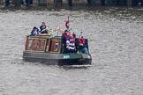 Thames Diamond Jubilee Pageant: NARROW BOATS-Doris Katia (R62).. River Thames seen from Battersea Bridge, London,  United Kingdom, on 03 June 2012 at 15:51, image #441