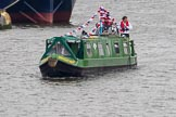 Thames Diamond Jubilee Pageant: NARROW BOATS-Arthur Dent (R66).. River Thames seen from Battersea Bridge, London,  United Kingdom, on 03 June 2012 at 15:52, image #445