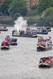 Thames Diamond Jubilee Pageant: NARROW BOATS.. River Thames seen from Battersea Bridge, London,  United Kingdom, on 03 June 2012 at 15:53, image #449