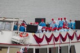 Thames Diamond Jubilee Pageant: THE MAYOR'S JUBILEE BAND-Westminister (C1).. River Thames seen from Battersea Bridge, London,  United Kingdom, on 03 June 2012 at 16:07, image #526