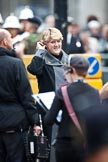 The Lord Mayor's Show 2011: The BBC's Clare Balding preparing for her live broadcast.. Opposite Mansion House, City of London, London, -, United Kingdom, on 12 November 2011 at 10:43, image #14