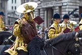 The Lord Mayor's Show 2011: Household Cavalry Mounted Regiment Band & Division.. Opposite Mansion House, City of London, London, -, United Kingdom, on 12 November 2011 at 10:49, image #24