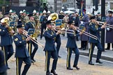 The Lord Mayor's Show 2011: The Central Band of the Royal Air Force.. Opposite Mansion House, City of London, London, -, United Kingdom, on 12 November 2011 at 11:12, image #164