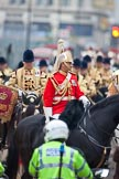 The Lord Mayor's Show 2011: The Director of Music, The Life Guards, Household Cavalry Mounted Regiment Band & Division.. Opposite Mansion House, City of London, London, -, United Kingdom, on 12 November 2011 at 12:16, image #749