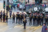 Lord Mayor's Show 2012: The Honourable Artillery Company (HAC) with their ceremonial 105 mm Light Guns.. Press stand opposite Mansion House, City of London, London, Greater London, United Kingdom, on 10 November 2012 at 10:18, image #58