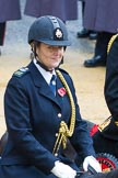 Lord Mayor's Show 2012: Rebecca Jenkins, senior Police Staff Trainer within the City of London Police mounted branch.. Press stand opposite Mansion House, City of London, London, Greater London, United Kingdom, on 10 November 2012 at 10:48, image #117