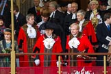 Lord Mayor's Show 2012: The Lady Mayoress, Dr Clare Gifford, the Lord Mayor, Roger Gifford, and the outgoing Lord Mayor, David Wootton.. Press stand opposite Mansion House, City of London, London, Greater London, United Kingdom, on 10 November 2012 at 10:58, image #168