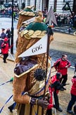 Lord Mayor's Show 2012: Society of Young Freemen / Gog&Magog / 100 Reg't RA(V) (100 Regiment Royal Artillery Volunteers).. Press stand opposite Mansion House, City of London, London, Greater London, United Kingdom, on 10 November 2012 at 11:02, image #218