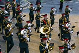 Lord Mayor's Show 2012: Romford Drum & Trumpet Corps.. Press stand opposite Mansion House, City of London, London, Greater London, United Kingdom, on 10 November 2012 at 11:03, image #225