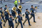 Lord Mayor's Show 2012: Entry 16 - Central Band of the RAF.. Press stand opposite Mansion House, City of London, London, Greater London, United Kingdom, on 10 November 2012 at 11:07, image #322
