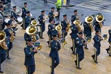 Lord Mayor's Show 2012: Entry 16 - Central Band of the RAF.. Press stand opposite Mansion House, City of London, London, Greater London, United Kingdom, on 10 November 2012 at 11:07, image #323