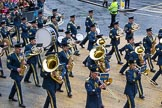Lord Mayor's Show 2012: Entry 16 - Central Band of the RAF.. Press stand opposite Mansion House, City of London, London, Greater London, United Kingdom, on 10 November 2012 at 11:07, image #324