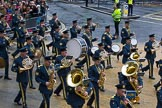 Lord Mayor's Show 2012: Entry 16 - Central Band of the RAF.. Press stand opposite Mansion House, City of London, London, Greater London, United Kingdom, on 10 November 2012 at 11:07, image #325