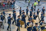 Lord Mayor's Show 2012: Entry 16 - Central Band of the RAF.. Press stand opposite Mansion House, City of London, London, Greater London, United Kingdom, on 10 November 2012 at 11:07, image #327