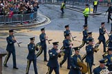 Lord Mayor's Show 2012: Entry 16 - Central Band of the RAF.. Press stand opposite Mansion House, City of London, London, Greater London, United Kingdom, on 10 November 2012 at 11:07, image #328