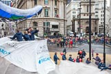 Lord Mayor's Show 2012: Entry 22 - Wings of Kilimanjaro - paraglider pi;ots about to fly from Mt Kilimanjaro for charity.. Press stand opposite Mansion House, City of London, London, Greater London, United Kingdom, on 10 November 2012 at 11:10, image #384
