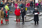 Lord Mayor's Show 2012: Dominic Reid, the Pageant Master.. Press stand opposite Mansion House, City of London, London, Greater London, United Kingdom, on 10 November 2012 at 11:15, image #547