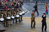 Lord Mayor's Show 2012: Entry 54 - St Dunstan's CCF Band - the St Dunstan 's College Combined Cadet Force.. Press stand opposite Mansion House, City of London, London, Greater London, United Kingdom, on 10 November 2012 at 11:24, image #716