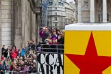 Lord Mayor's Show 2012: Entry 77 - CCA Art Bus Celebrating Peter Blake's 80th Year.. Press stand opposite Mansion House, City of London, London, Greater London, United Kingdom, on 10 November 2012 at 11:34, image #972