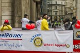 Lord Mayor's Show 2012: Entry 82 - Rotary in London/Wheelpower.. Press stand opposite Mansion House, City of London, London, Greater London, United Kingdom, on 10 November 2012 at 11:36, image #1078