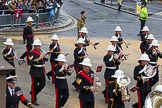 Lord Mayor's Show 2012: Entry 86 - Royal Marines Band (HMS Collingwood).. Press stand opposite Mansion House, City of London, London, Greater London, United Kingdom, on 10 November 2012 at 11:38, image #1141