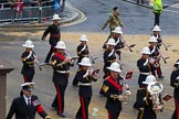 Lord Mayor's Show 2012: Entry 86 - Royal Marines Band (HMS Collingwood).. Press stand opposite Mansion House, City of London, London, Greater London, United Kingdom, on 10 November 2012 at 11:38, image #1142