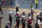 Lord Mayor's Show 2012: Entry 86 - Royal Marines Band (HMS Collingwood).. Press stand opposite Mansion House, City of London, London, Greater London, United Kingdom, on 10 November 2012 at 11:38, image #1143