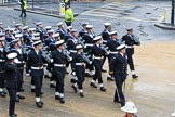 Lord Mayor's Show 2012: Entry 87 - Royal Navy (HMS Collingwood).. Press stand opposite Mansion House, City of London, London, Greater London, United Kingdom, on 10 November 2012 at 11:38, image #1146