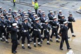 Lord Mayor's Show 2012: Entry 87 - Royal Navy (HMS Collingwood).. Press stand opposite Mansion House, City of London, London, Greater London, United Kingdom, on 10 November 2012 at 11:38, image #1147